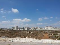 Capitale palestinienne, Ramallah, verrouillé derrière la barrière Photo stock
