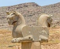 Capitale Persepolis del grifone Immagini Stock Libere da Diritti