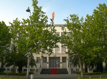 Capitale Podgorica Montenegro del palazzo presidenziale Immagini Stock Libere da Diritti