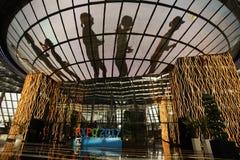 Capitale rappresentativa del distretto dell'Expo di mostra delle costruzioni di Astana del Kazakistan immagini stock libere da diritti