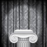 Capitale su fondo grigio Fotografia Stock