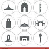Capitales asiáticas (parte 3) Imagen de archivo libre de regalías