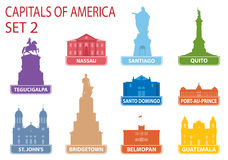 Capitales de América ilustración del vector