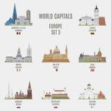 Capitales del mundo Fotografía de archivo libre de regalías