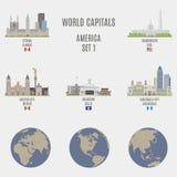 Capitales del mundo stock de ilustración