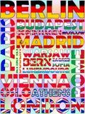 Capitales Europa Imagen de archivo libre de regalías