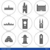 Capitales europeas - el icono fijó (la parte 4) Imagen de archivo libre de regalías