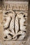 Capitales Románicos de las columnas en los claustros de la abadía de Montmajour cerca de Arles, Imagenes de archivo