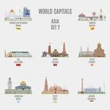 Capitali del mondo Immagini Stock Libere da Diritti