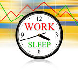 Capitalism. Work and sleep: this is our life Stock Photo