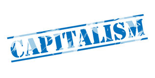 Capitalism blue stamp Stock Image
