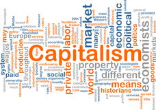 Capitalism management word cloud Stock Photos