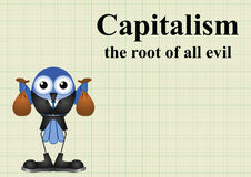 Capitalism root of evil Royalty Free Stock Photos