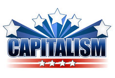 Capitalism sign Stock Image