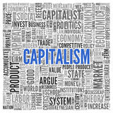 CAPITALISM Word Tag Cloud Design Stock Images