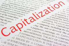 Capitalization Stock Images