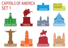 Capitals of America royalty free illustration