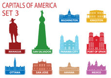 Capitals of America Royalty Free Stock Photos