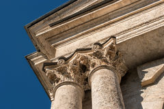 Capitals of the columns Stock Photography