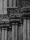 Capitals na katedrze z kwiecistą dekoraci częścią 3 Zdjęcia Royalty Free