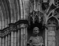 Capitals na katedrze z kwiecistą dekoraci częścią 4 Obrazy Stock