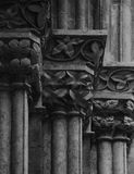Capitals na katedrze z kwiecistym dekoraci część 2 Obraz Stock