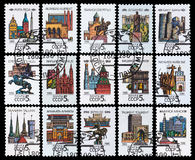 Capitals of Soviet Republic. Stamp Capitals of Soviet Republic Stock Photography