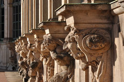 Capitals at zwinger, dresden. Series of grotesque capitals at a famous baroque palace and  museum  in dresden, the building has been  rebuilt after second world Royalty Free Stock Photo