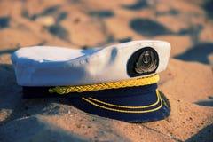 Capitan-Kappe auf dem Strand Stockfotografie