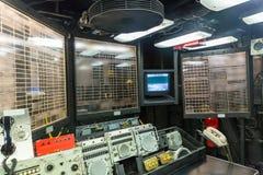 Capitan`s brige control panel Stock Photo