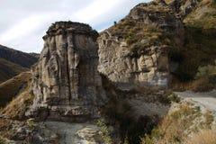 Capitanes Canyon Road, Queenstown, Nueva Zelanda Foto de archivo