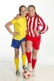 Capitanes del equipo de fútbol Imagen de archivo libre de regalías