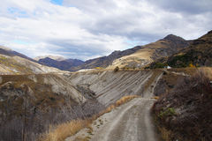 Capitani Canyon Road, Queenstown, Nuova Zelanda Immagine Stock