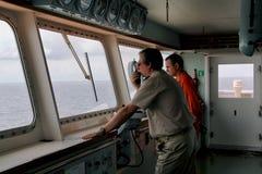 Capitano conning Fotografia Stock Libera da Diritti