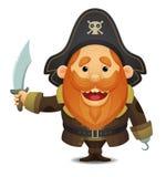 Capitano del pirata Immagini Stock