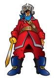 Capitano del pirata del fumetto Fotografia Stock Libera da Diritti