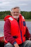 Capitano della barca Fotografie Stock