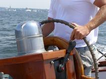 Capitano della barca a vela Fotografie Stock Libere da Diritti