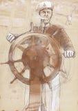Capitano di mare illustrazione vettoriale