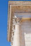 Capitaux de Corinthien de Maison Carree Images libres de droits