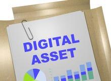 Capitaux de Digital - concept d'affaires Images stock