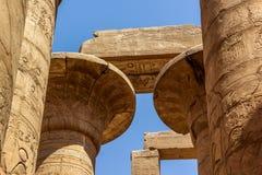 Capitel av templet av Karnak Fotografering för Bildbyråer