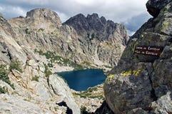 capitellu Corsica jezioro Zdjęcie Stock