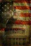 capitolörnflaggan texturerade oss Arkivfoton