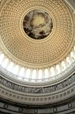 Capitol. Inside the United States Capitol Dome in Washington, DC stock photography