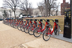 .Capitol Bikeshare Royalty Free Stock Images
