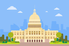 Capitol Buduje Stany Zjednoczone Ameryka senata dom Waszyngton ilustracji