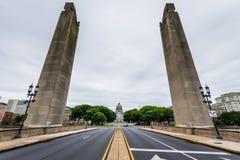 Capitol budynek w Harrisburg, Pennsylvania od soilders a obraz royalty free