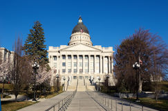 Capitol budynek w Salt Lake City wczesnej wiośnie, Utah, Zlany St obraz stock
