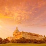 Capitol budynku washington dc zmierzchu USA kongres zdjęcie stock